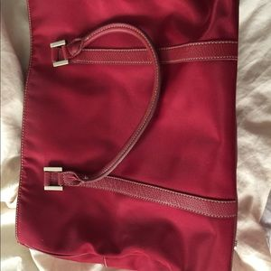 Fossil red soft briefcase